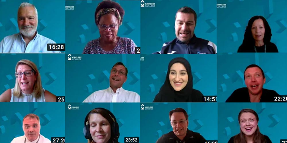 Tutors on Microsoft Teams delivering a presentation