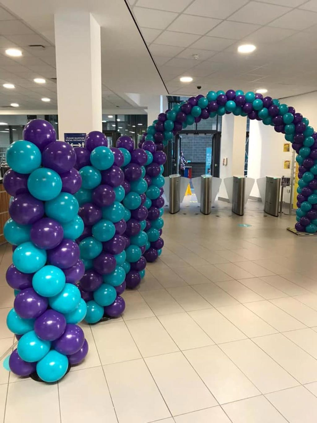 Balloons in reception area